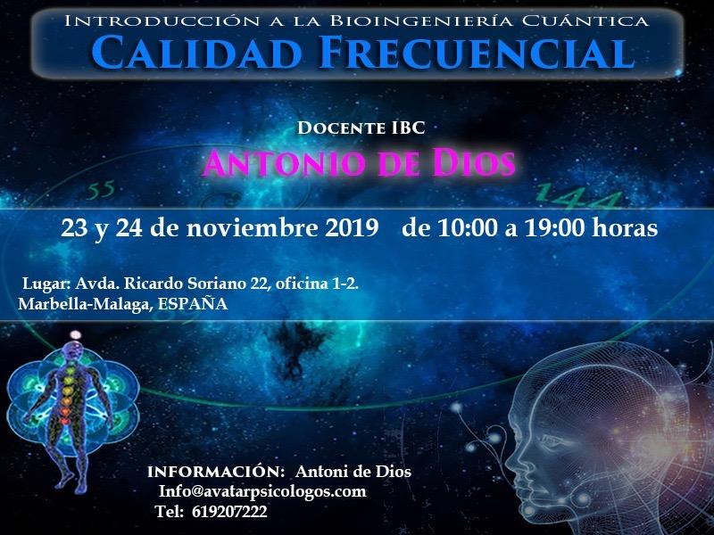 Curso de Calidad Frecuencial en Marbella – Introducción a la Bioingenieria Cuántica